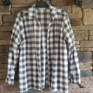 Gray and White Flannel Shirt. NWOT.  XXL